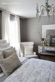 Bedroom With Grey Curtains Decor Impressive Tan And Grey Curtains And Decorating Gorgeous Gray