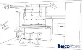 hauteur comptoir cuisine dimension ilot central cuisine cuisine blanche avec lot central