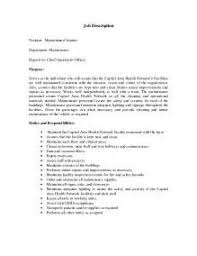 resume examples janitorial position resume ixiplay free resume