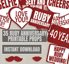 what is 40th wedding anniversary ruby decorations for a 40th wedding anniversary 11608