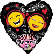 singing balloon emoticon singing balloon 29 in p e r sales