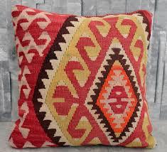 Cushion Rugs 14 U2033 X 15 U2033 Vintage Kilim Rug Cushion Pillow Covers Handmade Wool