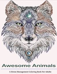 amazon com awesome animals coloring books a stress
