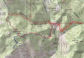 mt lemmon hiking trails map mount lemmon trail 8 7 02