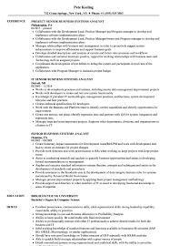 sle resume for business analyst role in sdlc phases system senior business systems analyst resume sles velvet jobs