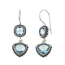 blue topaz earrings ottoman silver jewelry collection 10 5ctw sky blue topaz drop