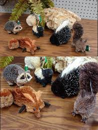moose r us woodland animal bottle brush ornament squirrel owl