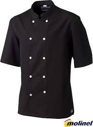 vestes de cuisine noir homme molinel