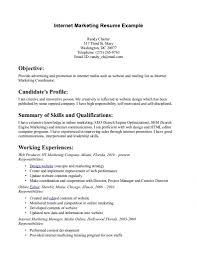 Sample Resume For Marketing Coordinator Marketing Resume Website Job Sample Resumes