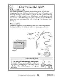 3rd grade 4th grade science worksheets draw the circuit