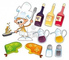 5516451 cook and kitchen objects cartoon and vector illustration