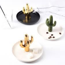 cactus home decor gold plating cactus porcelain home decor cactus sgs no moq ceramic