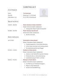 Lebenslauf Vorlage Usa Cv Curriculum Vitae Tipps Muster Vorlagen