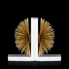 buy soleil white u0026 gold sphere bookend online from address home