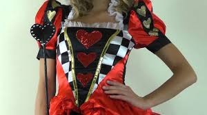 evil queen of hearts alice of wonderland halloween costume
