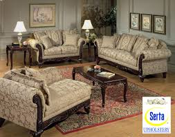 beige clarissa carmel fabric traditional 2pc sofa set w options