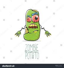 halloween background funny vector funny cartoon cute green zombie stock vector 705753403