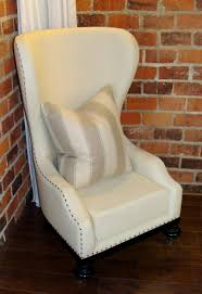 living room high back chair white high back wing chair with nail
