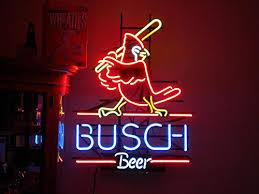 busch light neon sign urby cardinal busch beer real glass neon light sign home beer bar
