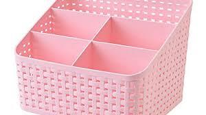 Plastic Desk Organizer Plastic Desktop Organizer Storage Box 5 Compartments Remote