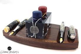 Pen Organizer For Desk Walnut Fountain Pen Desk Organizer Pen Tray Gift For Men For