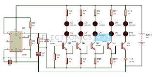 bike turning signal indicator circuit using 555 timer turning