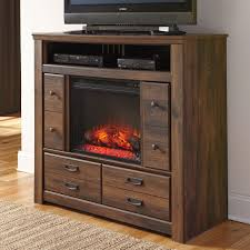 ashley quinden media chest with fireplace insert media furniture