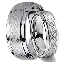amazon com his u0026 her u0027s 8mm 6mm tungsten carbide wedding band ring