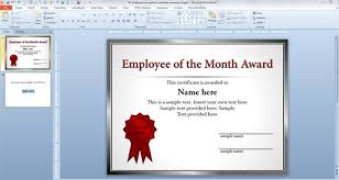 employee of the month template for employee recognition in powerpoint