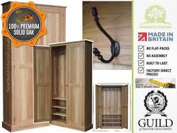 Oak Shoe Storage Cabinet Solid Oak Cloak Room Hallway Shoe Storage Cupboard
