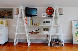 Diy Ladder Bookshelf Diy Furniture Ideas Using A Vintage Ladder Furnishyourself Com