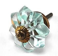 glass cabinet pulls handles antique vintage style aqua glass cabinet knobs pulls handles 1 2