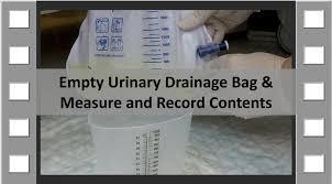 empty urinary drainage bag cna skill new youtube