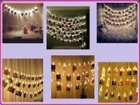 led cer awning lights string lights 30 40 led photo card clip string light party wedding
