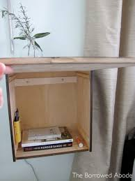 how to wine crate nightstand the borrowed abodethe borrowed abode