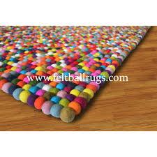 Wool Ball Rug Rectangle Square Colorful Rainbow Felt Ball Rug Felt Ball U0026 Rugs
