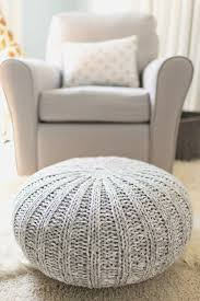 knit pouf perfect how to make a knitted pouf ottoman ebay with