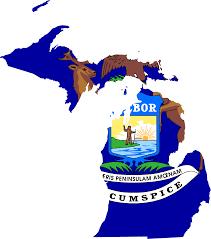 Maps Of Michigan by Michigan Flag Map U2022 Mapsof Net