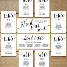 printable wedding seating chart by mycrayonsdesign that you can