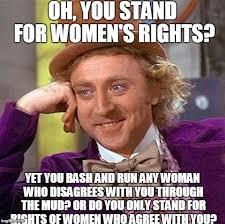 Womens Rights Memes - creepy condescending wonka meme imgflip