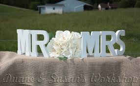 Mr And Mrs Sign For Wedding Mr Mrs Wedding Sign 8 Inch Sweetheart Table Wedding Diy Option