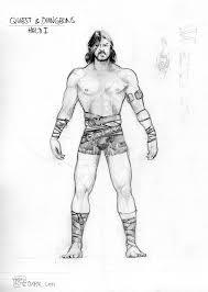 scantily clad male hero u2026 model sheets u2013 thomas schmall