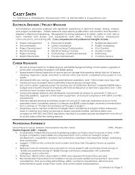 Resume Sample Program Manager by Resume Examples Electrical Engineering Resume Template Mechanical