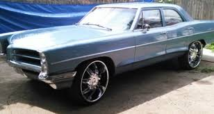Used 24 Inch Rims Blue 1966 Pontiac Catalina With 24 Inch Rims Push Start Stereo