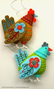 curated felt color collection for hen ornaments mmmcrafts
