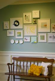 gallery wall ideas birds and a feather