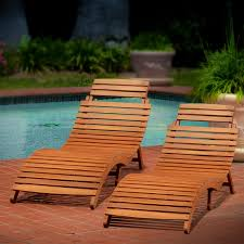 Patio Chaise Lounge Chair by Best Selling Home Decor Molokini Wood Outdoor Chaise Lounge U2014set Of