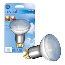 65 Watt Equivalent Indoor Led Flood Light Bulb by Ge Reveal 45 Watt Halogen R20 Indoor Flood Light Bulb 45r20h Rvl
