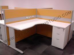 L Shaped Studio Desk 55thk partition with l shaped