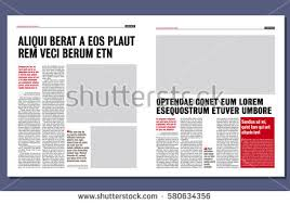 simple graphical design newspaper template stock vector 580634356